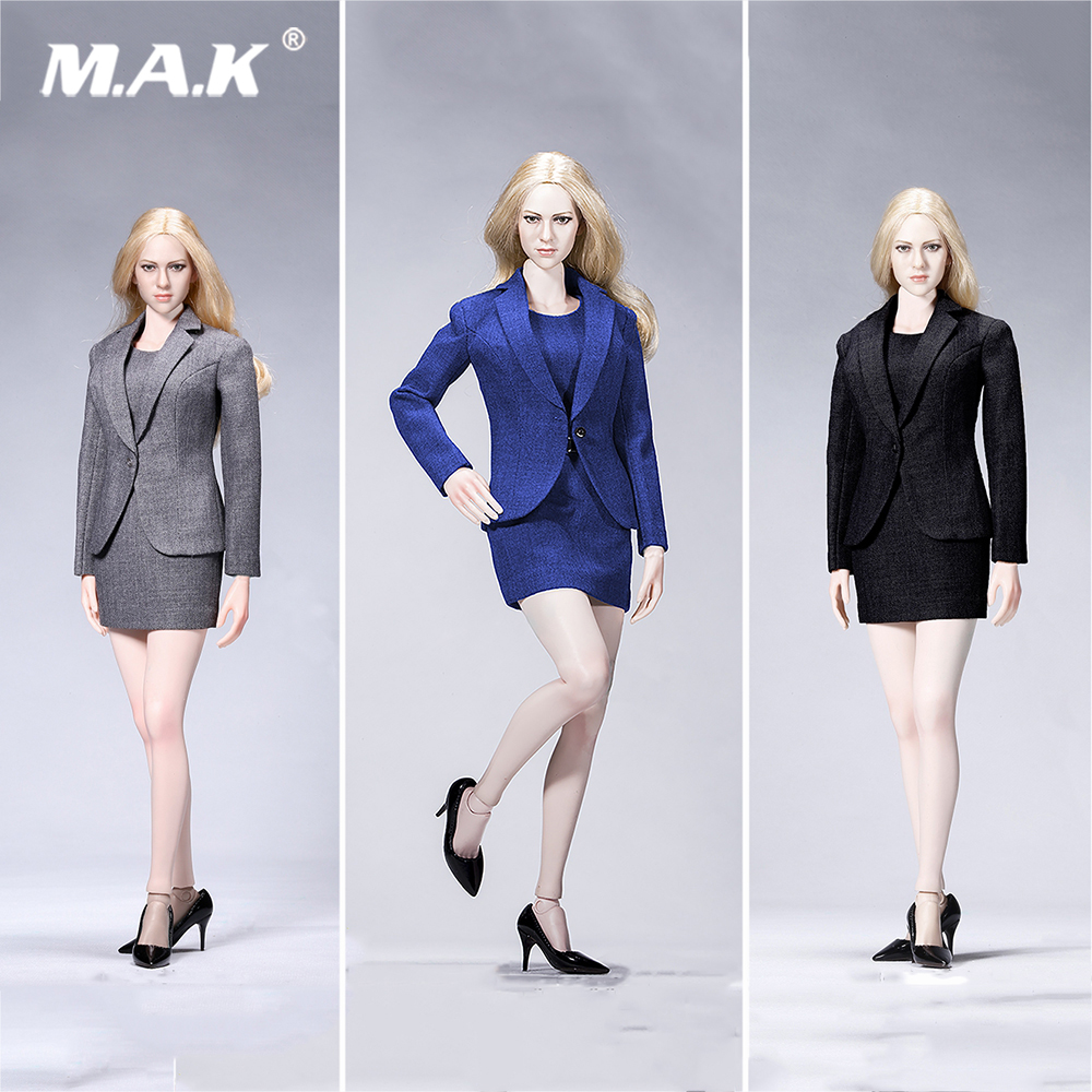 Three Color 1:6 Scale ATX029 Office Gril Female Suit OL Dress Set for 12 inches Action Figure