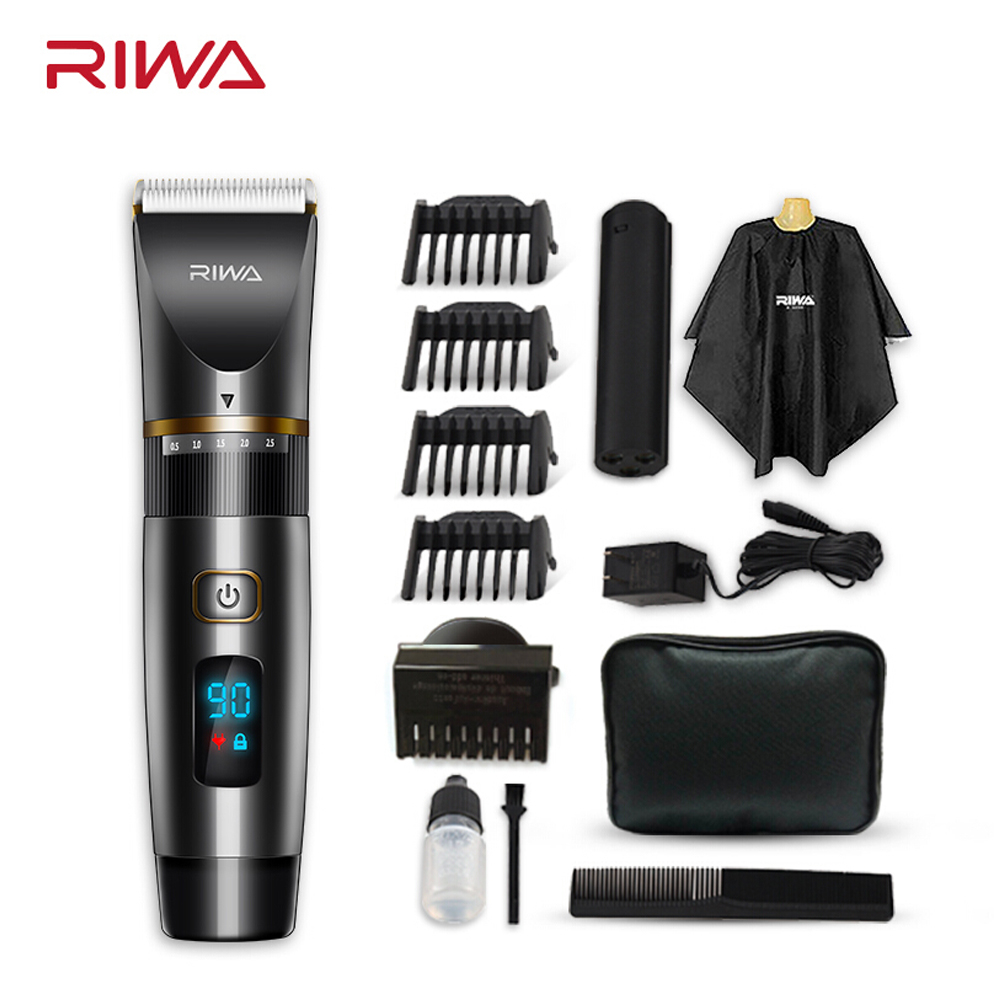 RIWA Hair Clipper Professional Hair Trimmer LCD Display Fast Charge Shaving Machine Washable fast For Haircut RE-6501 цена