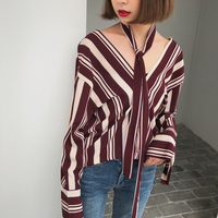 2017 Women Tops Hot Sale Fashionable And Casual Style Blouse Korean Style Retro Color Shirt Collar