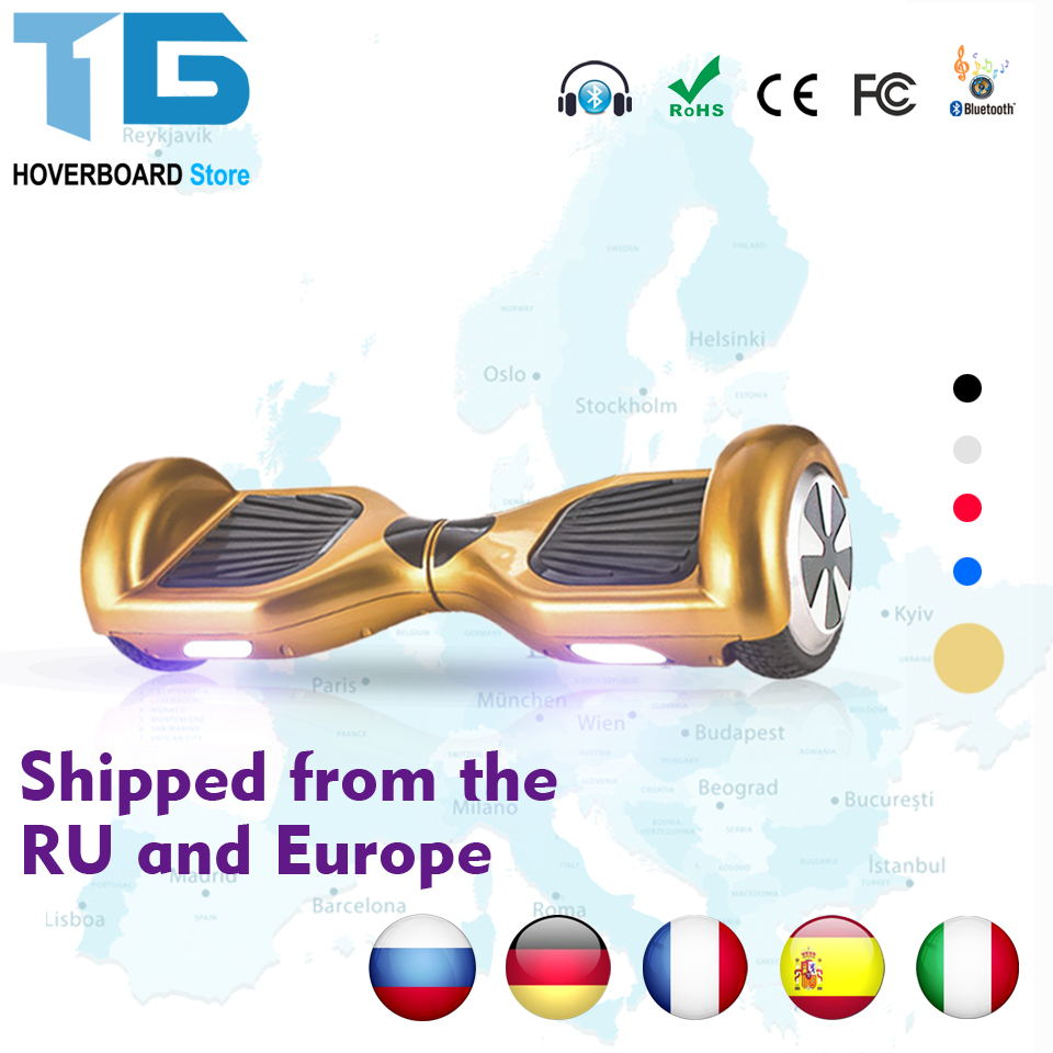 Elektryczne Giroskuter  Patinete Self Balancing Hoverboard Scooter Monocycle 6.5''inch Pouce Electric Skateboard Steering-Wheel self balancing two wheeled robot