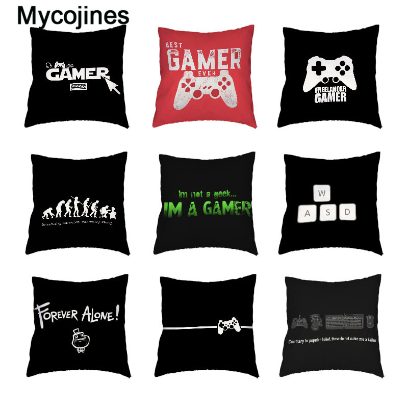 New Design Game White Cushion Cover Keyboard Handle Mouse Headset Throw Pillow Case Gamer Chair Car Decor Peach Skin Pillowcases