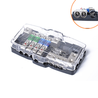 LED Car Audio Stereo Distribution Block Ground Mini ANL Fuse Block 4 Way Fuse Block 30A 60A 80Amp and Battery Distribution DY291