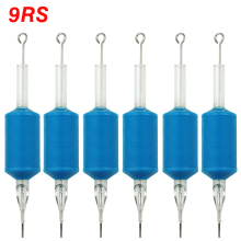 OPHIR 6PCS/Lot 9RS Blue Disposable Tattoo Tube Tips with Nozzle Needles Grip Tattoo Machine Gun Accessory _TA111(9RS)-6x
