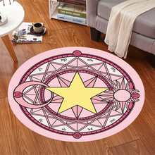 Pentacle Magic Round Carpet For Living Room Mats Children Cartoon Star Area Soft Rug Floor