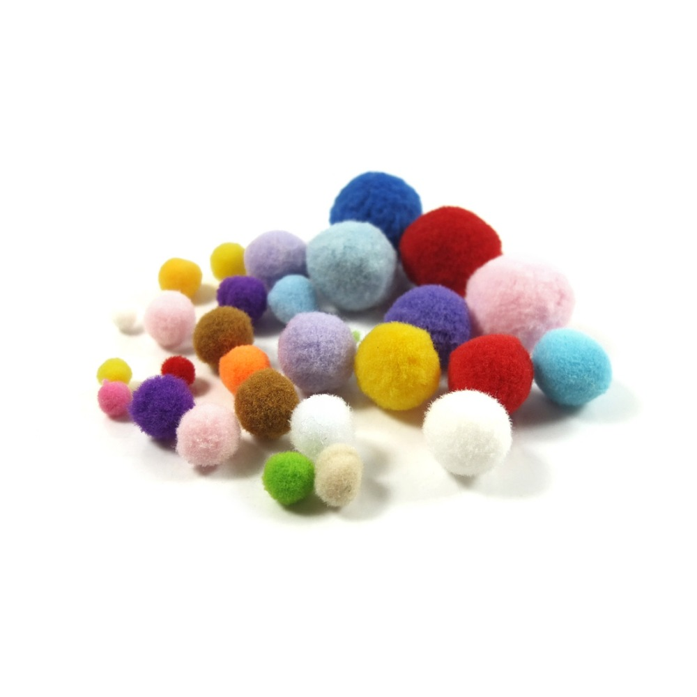 100pcs 6mm Mixing Color Small Pompom Balls Furball Woolen Felt Clothing Toy Accessory DIY Homemade Craft in DIY Craft Supplies from Home Garden