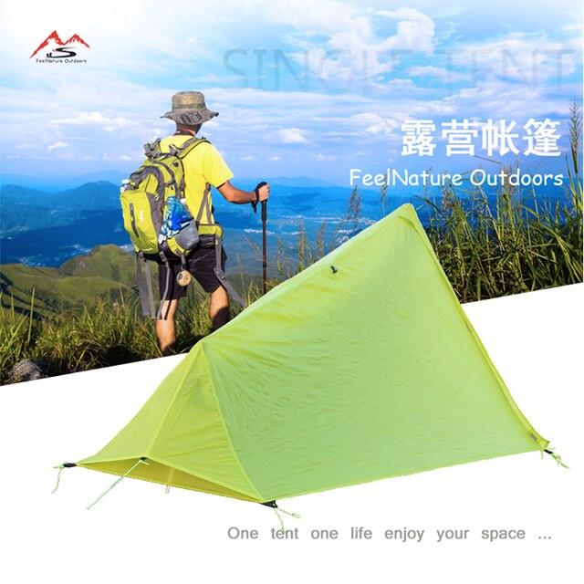 780g seulement 15D nlyon double côtés silicone huile étanche simple personne poids léger camping tente pour camping, randonnée