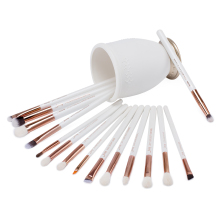 Jessup Pearl White/Rose Gold Professional Makeup Brushes Set Make up Brush Tools kit Eye Liner Shader