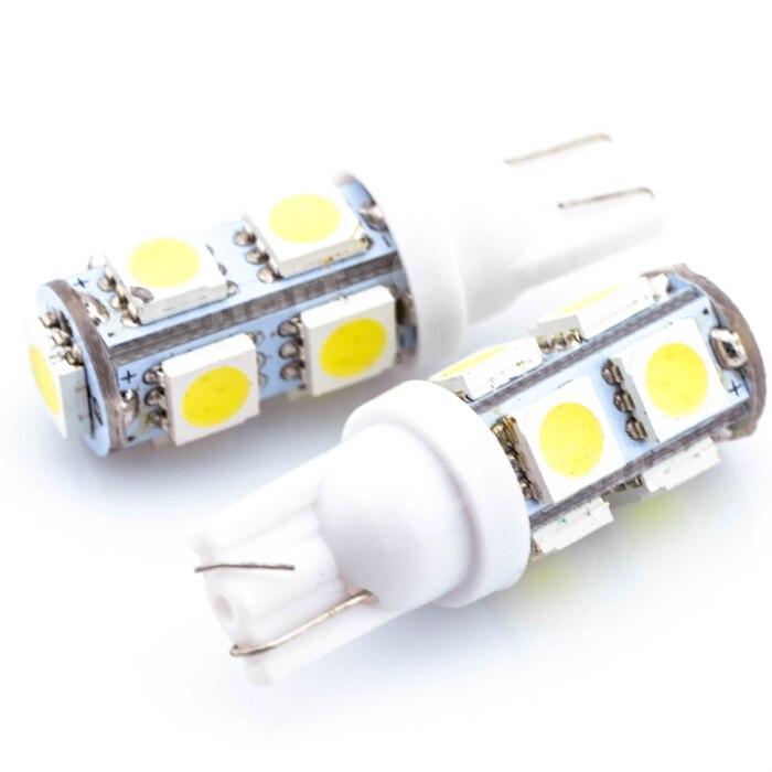 Hot Sale Wholesale T10 9 SMD LED 5050 12V White Light Led 9smd 9led Wedge Auto Car Interior Lamp Buib 200PCS