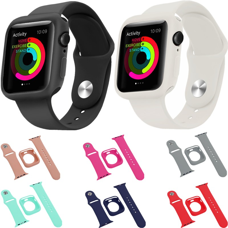 Soft Silicone Strap For Apple Watch bands 4/3/2/1 Sport Bracelet Replacement Wristband For iwatch 44/42/40/38mm Accessories beltSoft Silicone Strap For Apple Watch bands 4/3/2/1 Sport Bracelet Replacement Wristband For iwatch 44/42/40/38mm Accessories belt