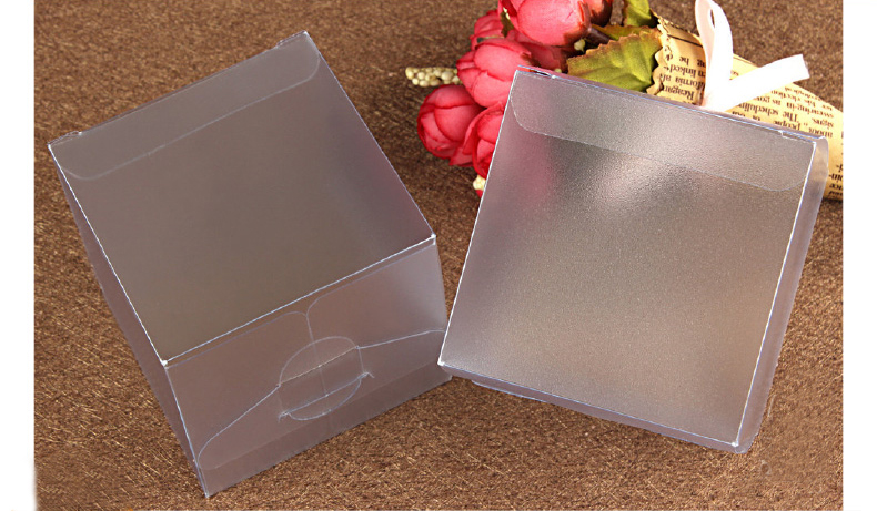 100pcs 7*7*7cm Frosted pvc box plastic clear box gift boxes for jewellery/Candy/food packaging display boxes diy cases storage