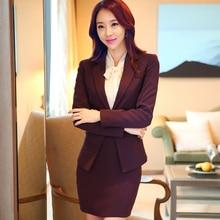 New winter 2015 women's wear suits Slim OL female dress business suit