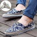 Высокое Качество Холст Обувь Для Мужчин Дышащий Мода Повседневная Мокасины Вождения Обувь на шнуровке Квартиры Обуви Новый Alpargatas