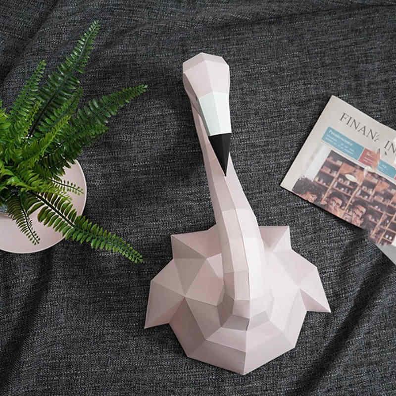 4 цвета Бумага Фламинго модель игрушки DIY Материал руководство Творческий вечерние шоу реквизит прекрасный прилив украсить Фламинго изображения подарок