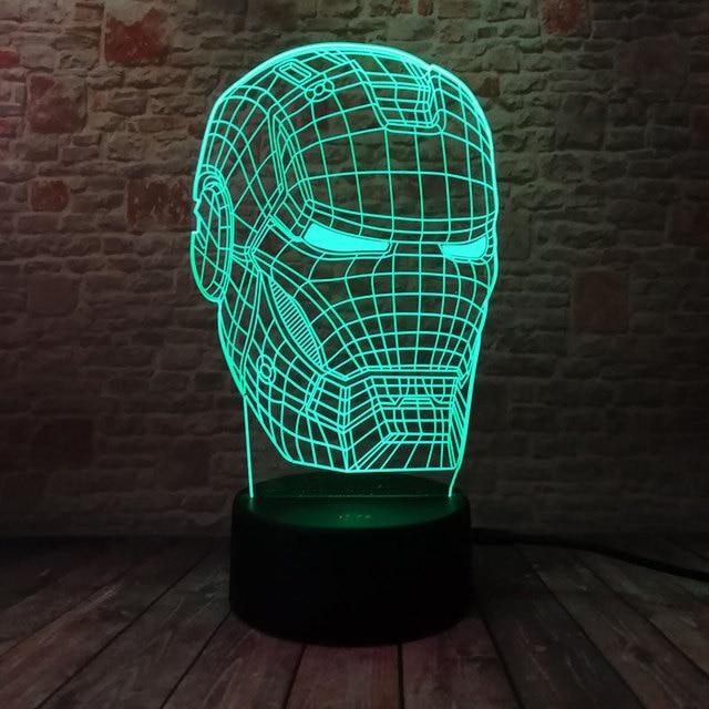 Iron Man Figurine 3D Illusion LED NightLight 1