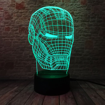 Iron Man – 3D LED Light Lamp
