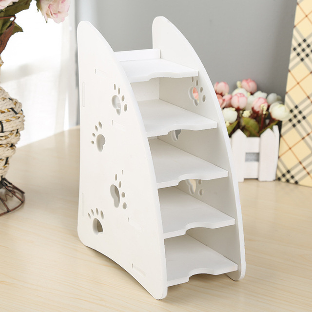 DIY Wood Plastic Plate Remote Control Household Organiser Stand Holder  Durable Caddy Storage Couch DVD