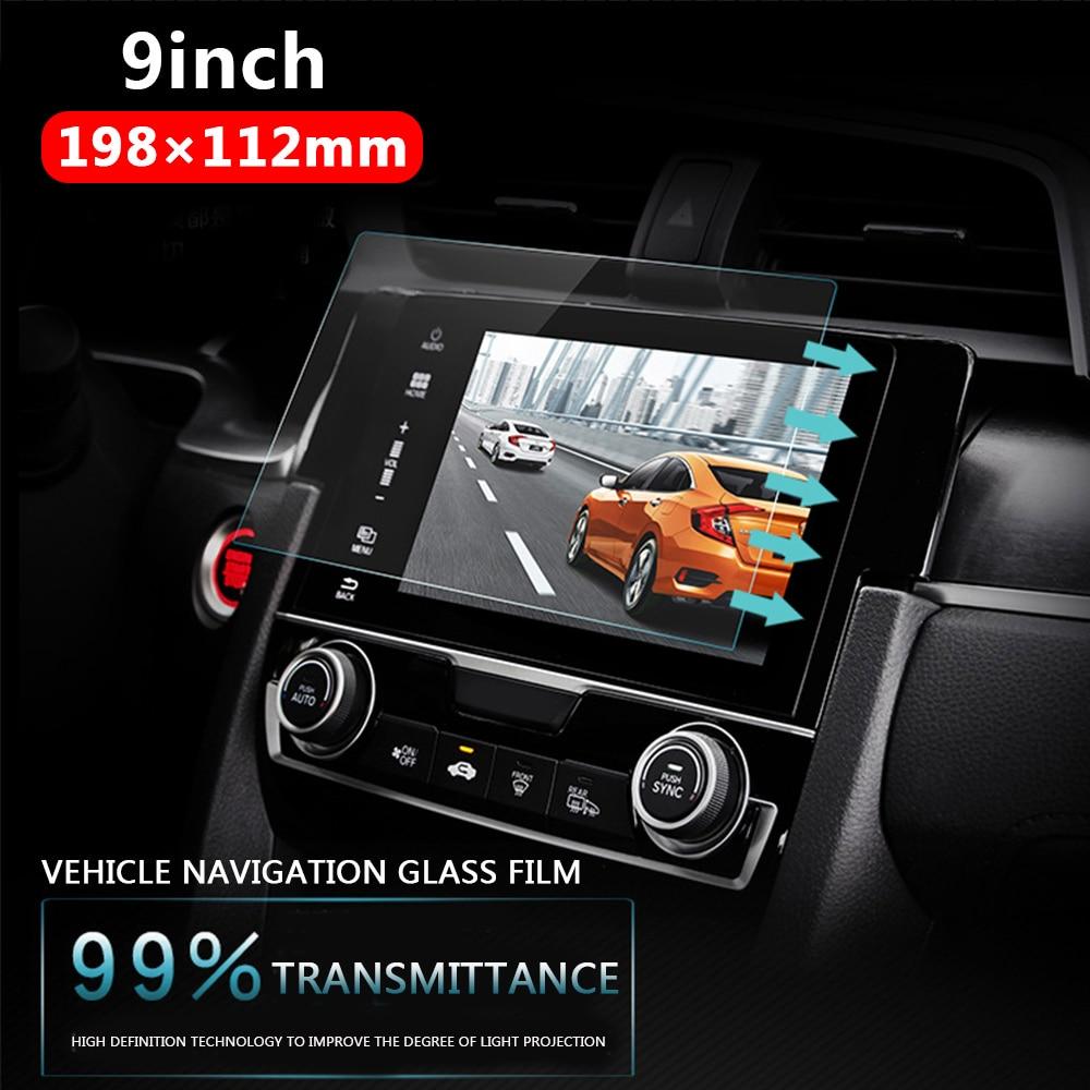 Vehemo автомобиль закаленное стекло для автомобиля gps MP5 видео плеер протектор экрана пленка Премиум 9 дюймов 198x112 мм DVD Guard ЖК-монитор