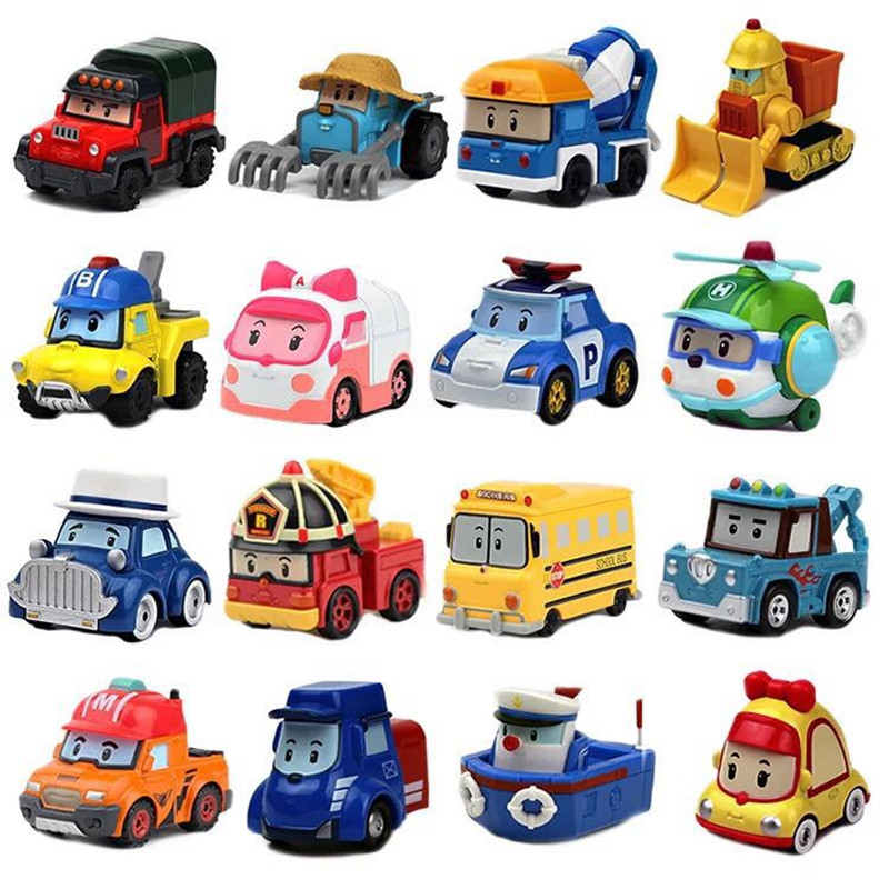 New 23 Style Kids Toys Anime Action Figures Anba Car Toys Robocar Poli Metal Model Toy Car For Children Christmas Gifts
