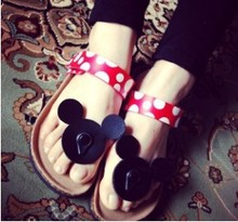 New Mickey Cartoon Style Cork Women's Slippers