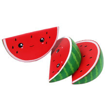Wholesale 16CM Watermelon Squishy Toy Smiley Face Fruit Kids Squishies Toy Slow Rising Stretchy Squeeze Child Relieve Stress Gag(China)