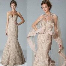 bc0ba976f48 2018 Elegant Mermaid Sweetheart Lace Crystal Shawl Bolero Wrap Jacket Floor  Length Prom Evening Mother of
