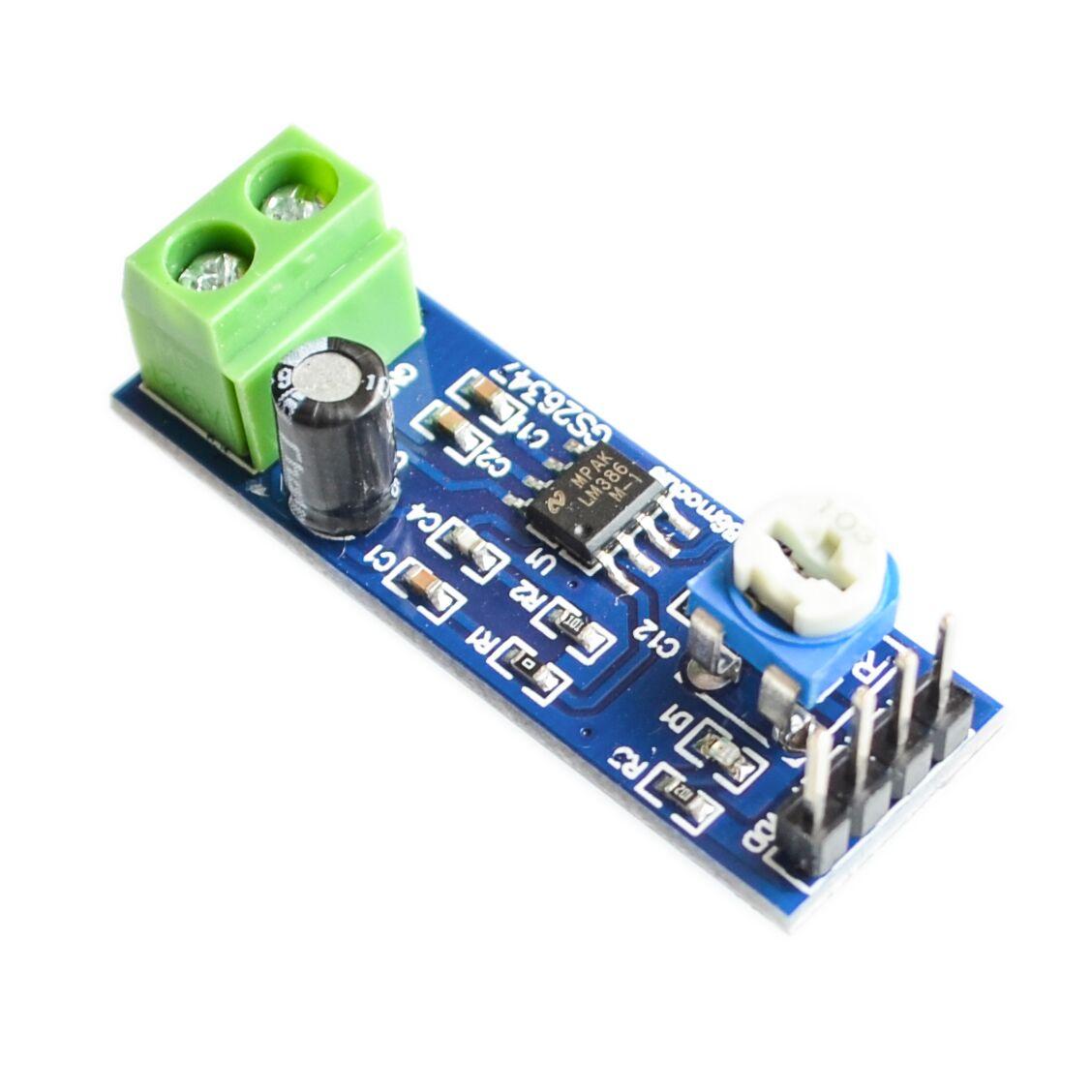 10pcs/lot LM386 Audio Amplifier Module 200 Times 5V-12V Input 10K Adjustable Resistance Dropshipping
