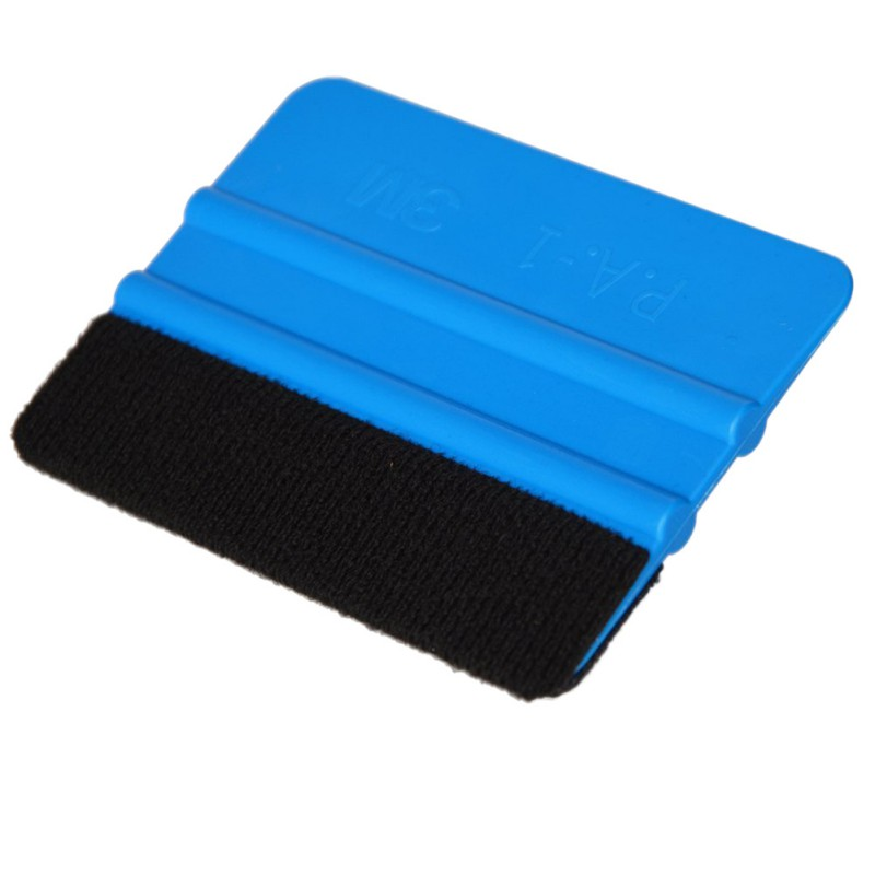 1PCS Car Vinyl Film wrapping tools Blue Scraper squeegee with felt edge size Car Styling Stickers Accessories carbon fiber vinyl film wrapping scraper tools bubble window wrapping film squeegee scraper car styling stickers accessories