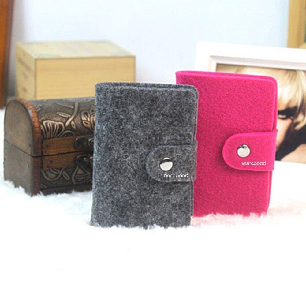 Vintage Womens Men Pouch ID Credit Card Wallet Cash Holder Organizer Case Box Po