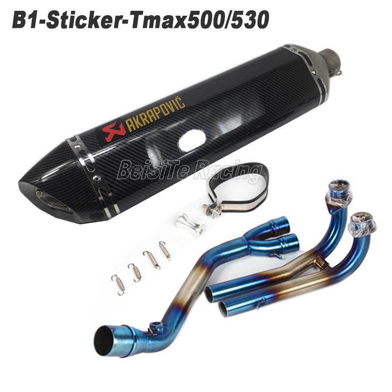 ヤマハ TMAX530 TMAX500 オートバイ Akrapovic スリップオン Tmax 排気マフラーエスケープフルシステム Db のキラー