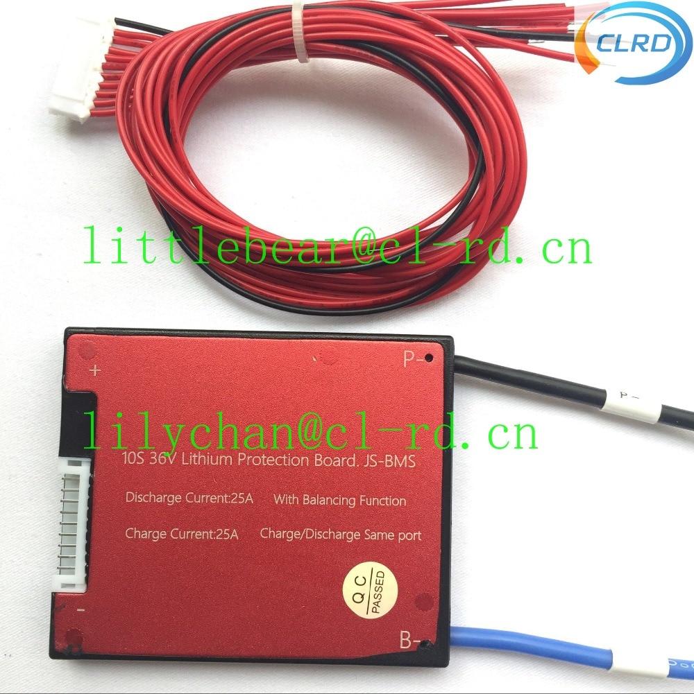 1pcs/lot waterproof PCB PCM BMS for 36V 10S 16A 25A 35A 45A 60A Li-ion Lipolymer Battery Pack with BALANCE