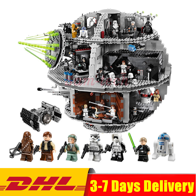 Lepin 05035 Star Set Wars Death Star 3804pcs Building Block Bricks Toys Kits Compatible with 10188 Children Educational DIY Gift bela 10464 star wars death star final duel bricks building block compatible with lepin
