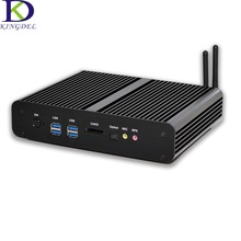 Безвентиляторный Рабочего Mini PC Intel 5-го Поколения Core i7 4500U i7 i7 5500U 5550U HD 4 К 2 * Gigabit LAN + 2 * HDMI + SPDIF + 4 * USB 3.0 HTPC