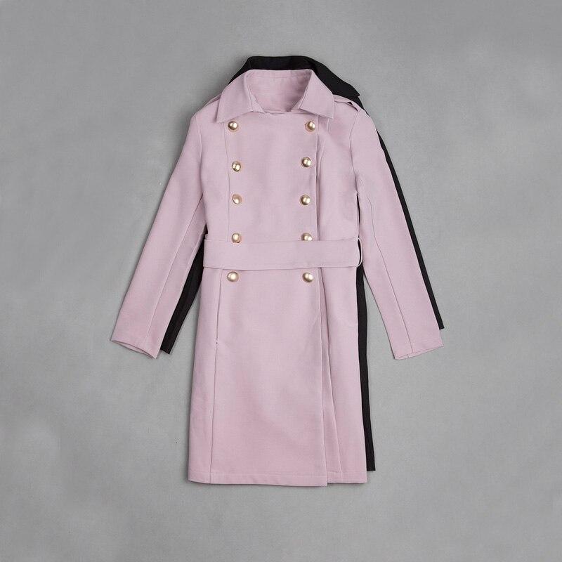 Manteaux Turn Long Col D'hiver Longues Décontractés down Fashion Pink Pour Manches Manteau Femmes Européenne 2017 Vêtements Élégant Dames Chaud X7YnxFgvqw