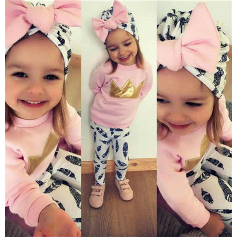 e43d11956 Detail Feedback Questions about Tracksuit 3Pcs Kids Baby Girl Suit ...