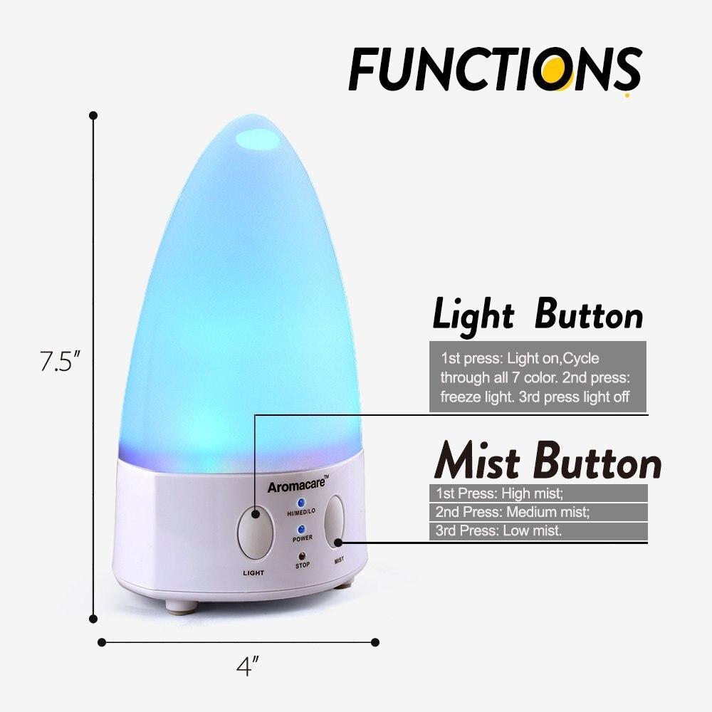 Aromaterapi Essential Oil Diffuser Mini Humidifier 7 Lampu Menukar - Perkakas rumah - Foto 4