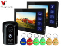 Freeship By DHL Home Intercom System IR RFID Camera With Touch Key Wired 7 TFT Touch
