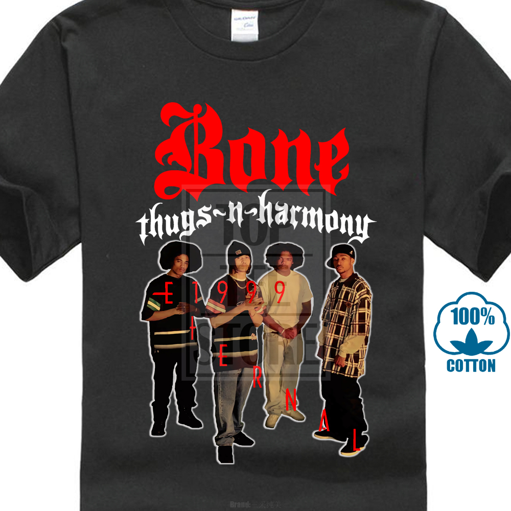 Bone Thugs N Harmony E 1999 Eternal Hoodie Hip Hop Rap Sweatshirt merch Black
