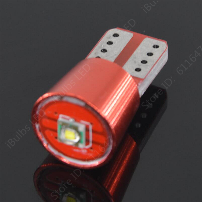 50Pcs High Power T10 LED 168 194 W5W 1 XBD SMD Canbus Error Free Car Auto
