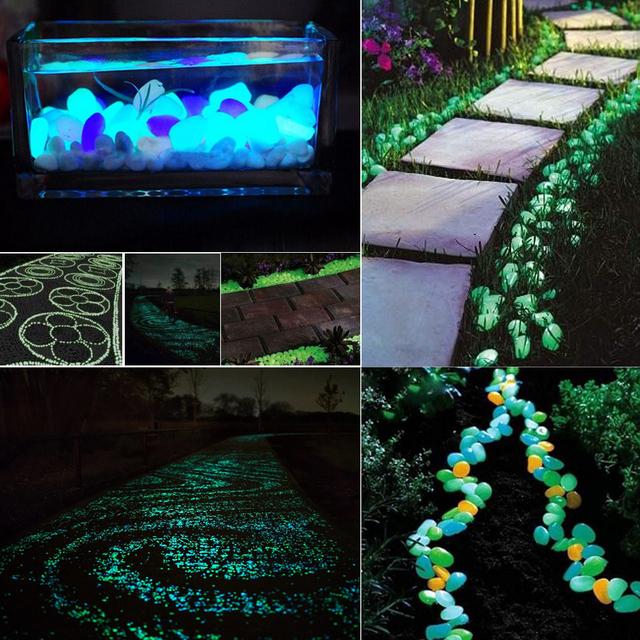 Luminous stones Dark garden stones Garden decoration