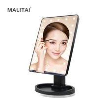 Dimmable Touch Switch 16 / 22 LED Vanity lights Adjustable Makeup Mirror Dressing Cosmetic Table lamp Portable Beauty Tools(China)