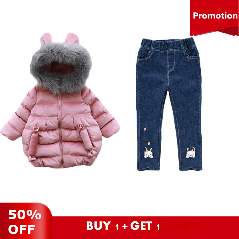 Kids Girls Winter Down Parkas Fashion Children Chirstmas Long Jackets Fur Hooded Thickening Warm Snowsuits For Girls Down Parkas winter jacket for girls kids hooded parkas long thick children warm coats autumn down jackets toddler girls snowsuits outerwear