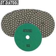 Disque de ponçage Flexible en résine diamant, 5 pouces de diamètre, très compétitif, DT-DIATOOL MM B, 8 pièces, tampons de polissage à sec, 125
