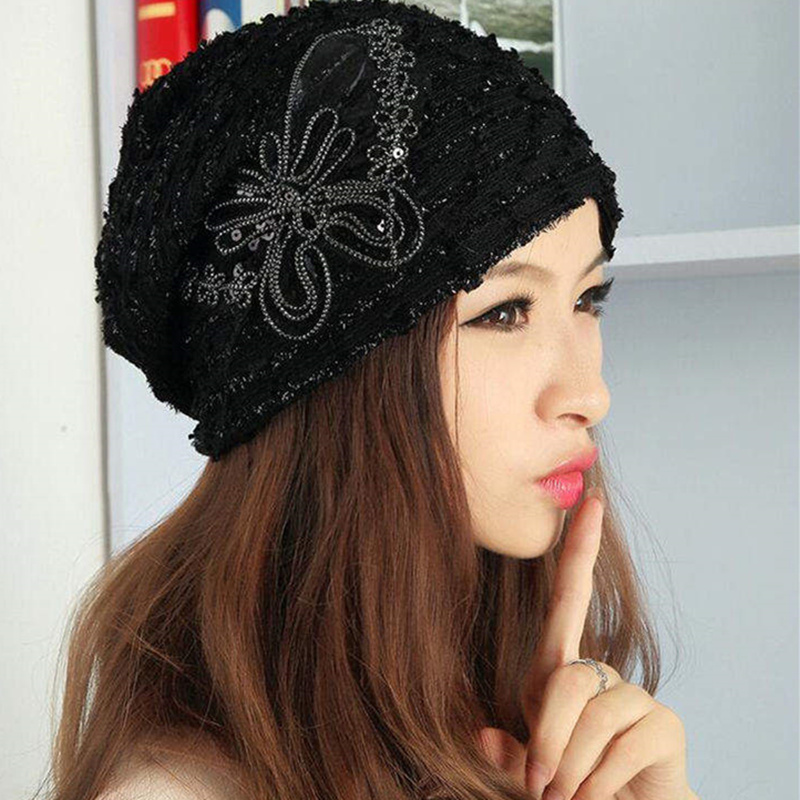 Winter Warm  Casual Beanies Women Fashion Knitted Hat men Solid Sequin lace Butterfly Hip-hop Skullies Bonnet Unisex Caps  new 2016 winter hat nasa men women unisex solid brand hot sale warm casual knitted hip hop caps hat female skullies beanies