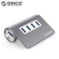 ORICO M3H4 SV Aluminum High Speed Mini 4 Port Micro USB 3 0 HUB With CE