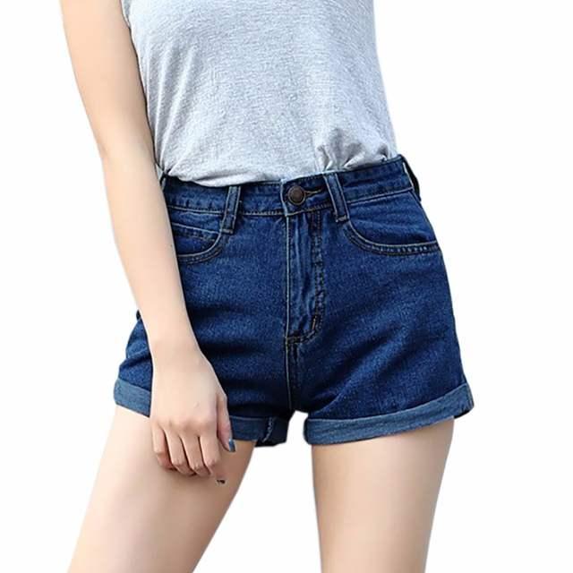 d37e91c24 placeholder Azul Shorts Jeans Mulheres Verão 2018 Da Marca Magro Ocasional  do Algodão plus Size Mulheres Shorts