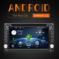 6.2 Android 7.1 WIFI Universal In Dash HD Touch Screen Car DVD Player Double Din GPS Navigation Stereo free camera & map
