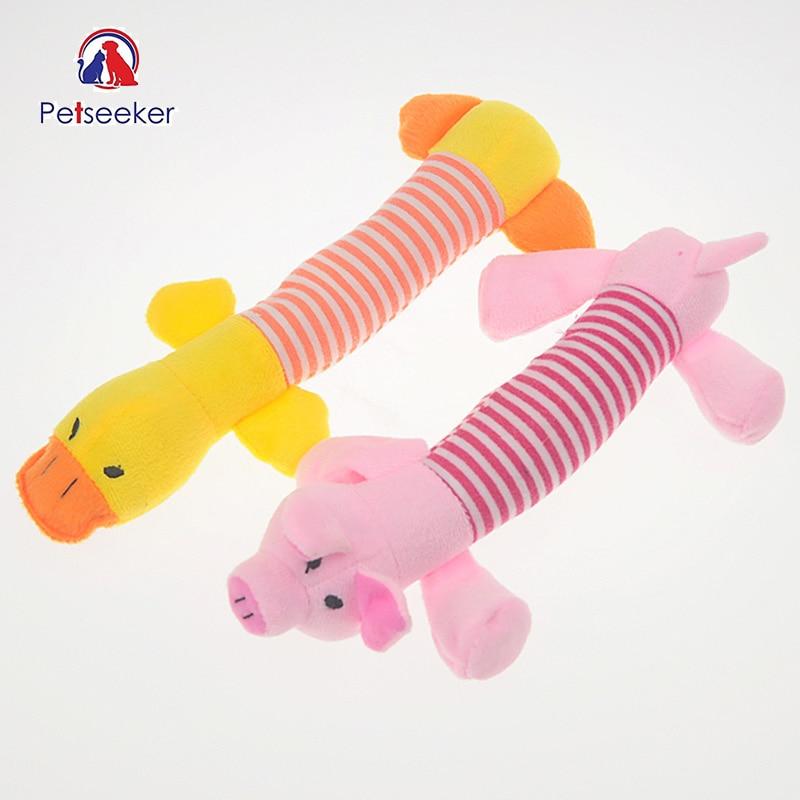 Игрушки для собак Pet Короткие Плюшевые ботинки BB пищалка интересные любимая игрушка уточка и свинья и слон Форма Игрушечные лошадки
