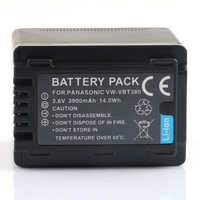 LANFULANG VW VBT380 VW VBT380 rechargeable Battery Camera Batteries for Panasonic HC W850 HC W858 HC WX970 HC WX979 HC WXF990