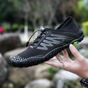 Image 4 - 36 46 יוניסקס קיץ מים נעלי גברים חמש אצבע חיצוני במעלה הזרם שכשוך נטו טיולים חמישה טופר טיולים קל משקל לנשימה נעליים