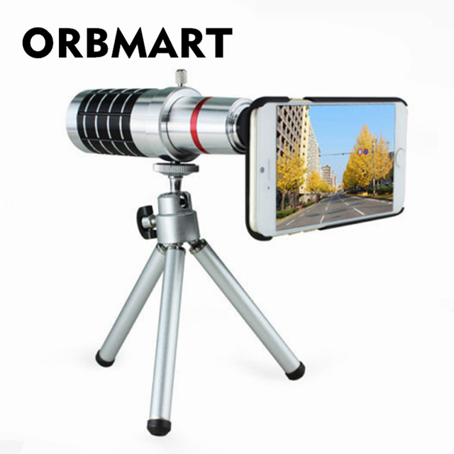 ORBMART 16X Optical Zoom Lens Camera Telescope With Mini Tripod For iPhone 5 5s 6 6s 6 6s Plus Mobile Phone Lenses